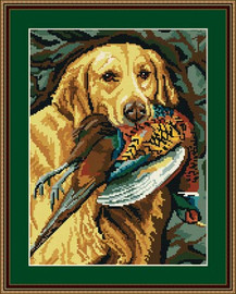 Golden Retriever Tapestry Kit