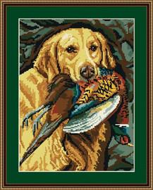 Golden Retriever Tapestry Kit