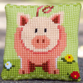 Sweet little piggy Tapestry Kit by Vervaco