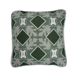 "Green Tile 12"" cushion Tapestry Kit By Cleopatra"