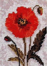 Poppy Head Tapestry Starter kit