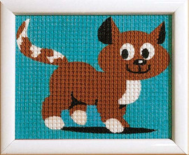 Brown Kitten Children Tapestry Kit