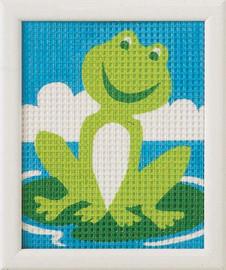 Frog Children Tapestry Kit
