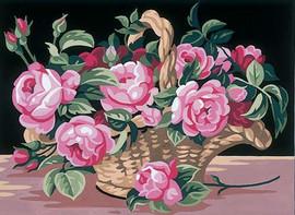 Le Panier de roses two Tapestry Canvas