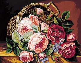 Le Panier de Roses Tapestry Canvas
