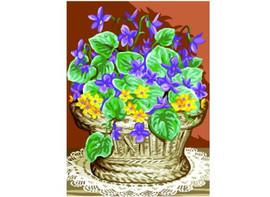 panier De Violettes Tapestry Canvas