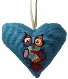 Funky Owl Heart Tapestry Cushion Kit By Cleopatra