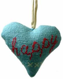 Happy Heart Tapestry Cushion Kit By Cleopatra