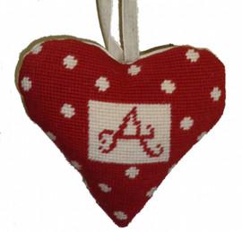 Alphabet Heart Lavender Heart Tapestry Kit