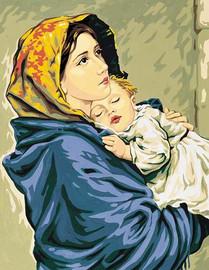 Madonna del Riposo d apres Ferruzi Tapestry Canvas