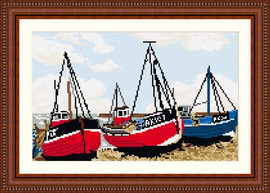 Fishing Boats Tapestry Kit