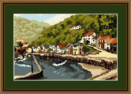 Lynmouth Harbour Tapestry Kit