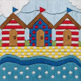 Beach Huts Longstitch Kit