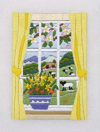 Spring in the Window Long Stitch Kit