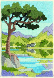 Mountain Summer Long Stitch Kit