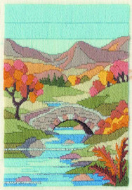 Mountain Autumn Long Stitch Kit