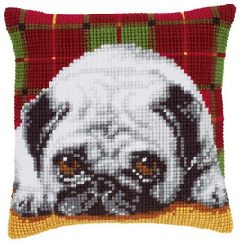 Pug Dog Tapestry Cushion Kit by Vervaco