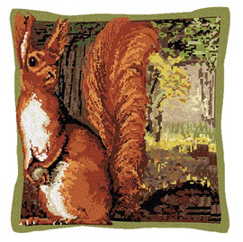 Red Squirrel Tapestry Cushion Kit