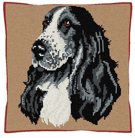 Cocker Spaniel Tapestry Cushion Kit