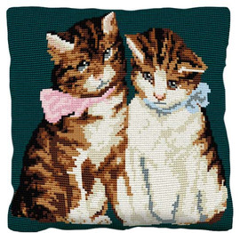 Kittens Tapestry Cushion Kit