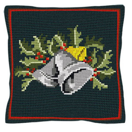 Christmas Bells Tapestry Cushion Kit