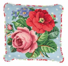 Berlin Rose Tapestry Cushion Kit