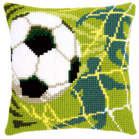 Football Tapestry Cushion Kit by Vervaco