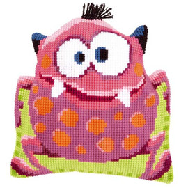 pink Monster Children Tapestry Cushion Kit by Vervaco