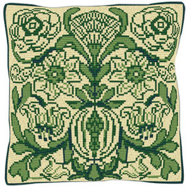 Victorian Tile Tapestry Cushion Kit