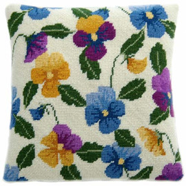 Pansy Garden Tapestry Cushion Kit