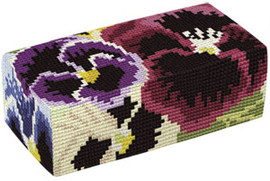 Pansies Tapestry Doorstop Kit