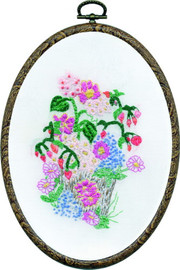Flower Pot Embroidery Kit
