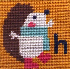 Hedgehog Needle Point By Stitching Shed