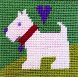 Scottie Needle Point By Stitching Shed