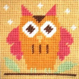 Owl Childrens Needlepoint Kit