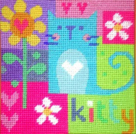 Kitty Needle Point By Stitching Shed