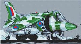 Harrier Jump Jet Cross Stitch Kit