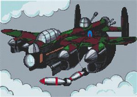 Lancaster Bomber Cross Stitch Kit