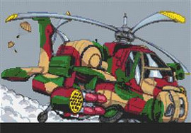 Longbow Helicopter Cross Stitch Kit