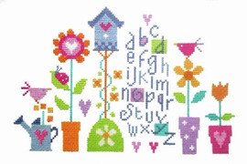 Pretty Garden Sampler Cross Stitch Kit