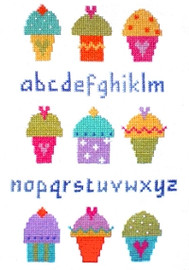 Cup Cake Sampler Cross Stitch Kit