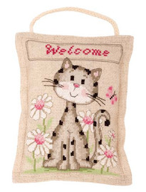 Kitten Deco Vervaco Cushion Kit