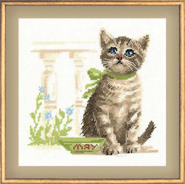 Meow! Cross Stitch Kit