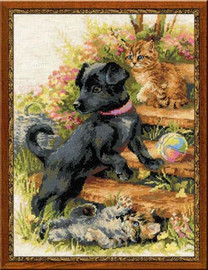 On The Holiday Cross Stitch Kit By Riolis