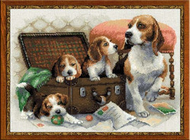 Canine Family Cross Stitch Kit By Riolis