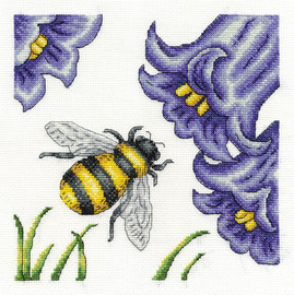 Bee And Bluebells  Cross Stitch Kit By Dmc