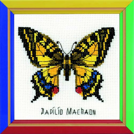 Swallowtail Butterfly Cross Stitch Kit By Riolis