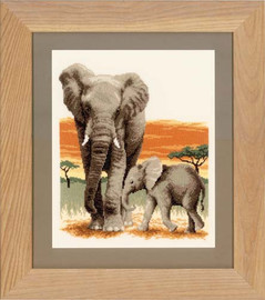 Elephants Journey Cross Stitch Kit By Vervaco