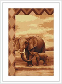 Elephants Cross Stitch Kit By Luca S