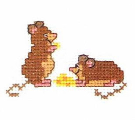 Mice Cross Stitch Kit